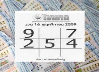 """หวยเด็ด แจกกันอีกงวด """"หวยหนังสือพิมพ์ไทยรัฐ"""" งวด 16 พฤศจิกายน 59"""
