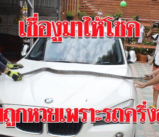 หลวงพ่อทักว่าจะมีโชคลาภ วันต่อมามีงูเลื้อยเข้าไปอยู่ในรถยนต์