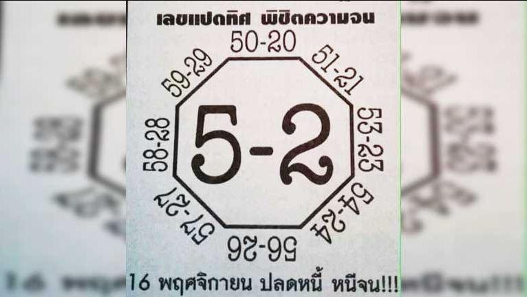 เลขเด็ด หวยดัง เลขมาแรง งวดประจำวันที่ 16/11/2560